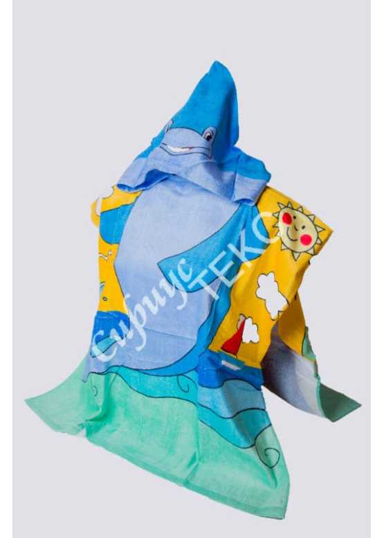 Полотенце махровое «Дельфинчик»