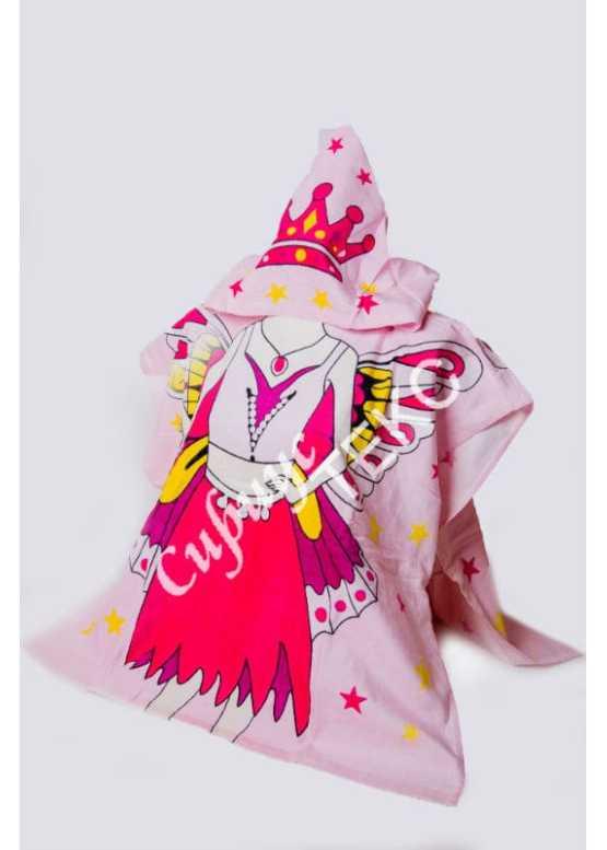 Купить в Иваново махровое полотенце накидку (принцесса)