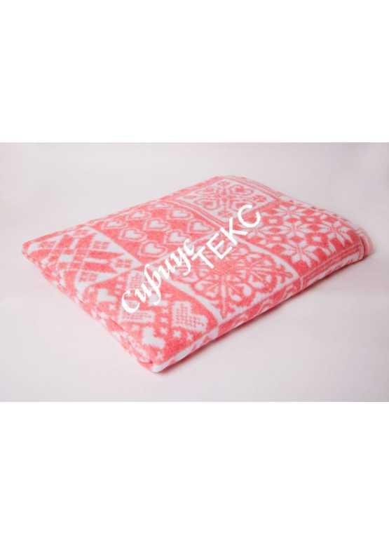 Одеяло детское байковое 110-140 (розовое)