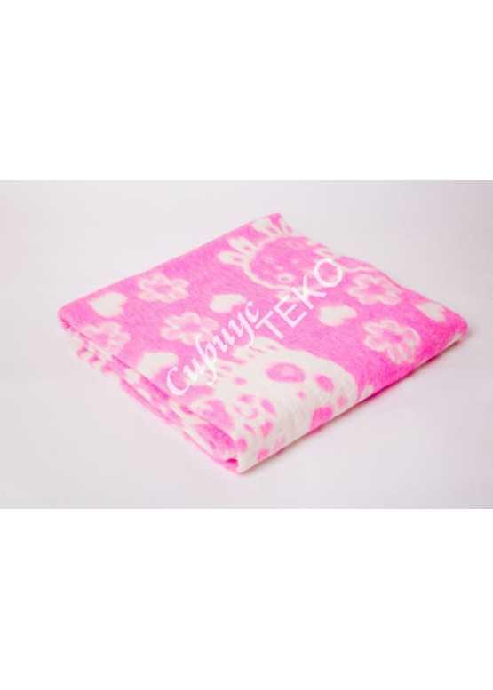 Одеяло детское байковое 132x100 (розовое и голубое)