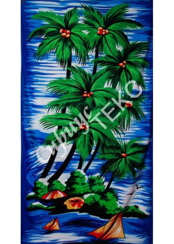 Полотенце пляжное  велюровое 140-70 (пляж)