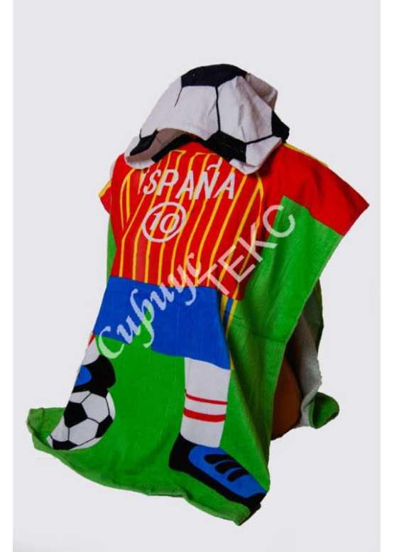 Купить в Иваново махровое полотенце накидку (футболист)