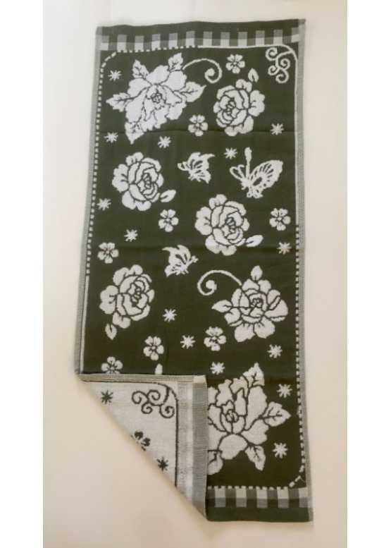 Полотенце махровое «Розочка» ручное