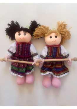Кукла полотенцедержатель с палкой