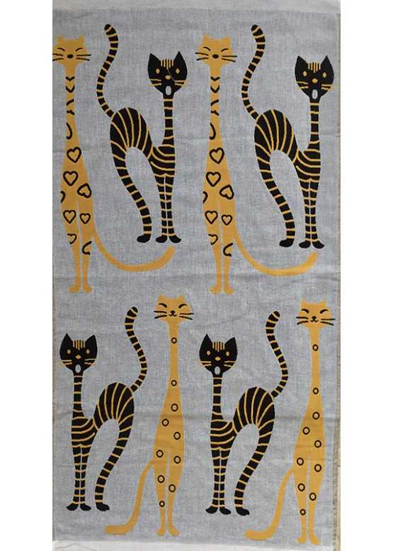 Полотенце махровое «Коты» лицевое