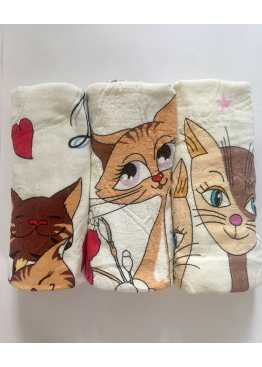 Полотенце махровое «Коты в Париже»